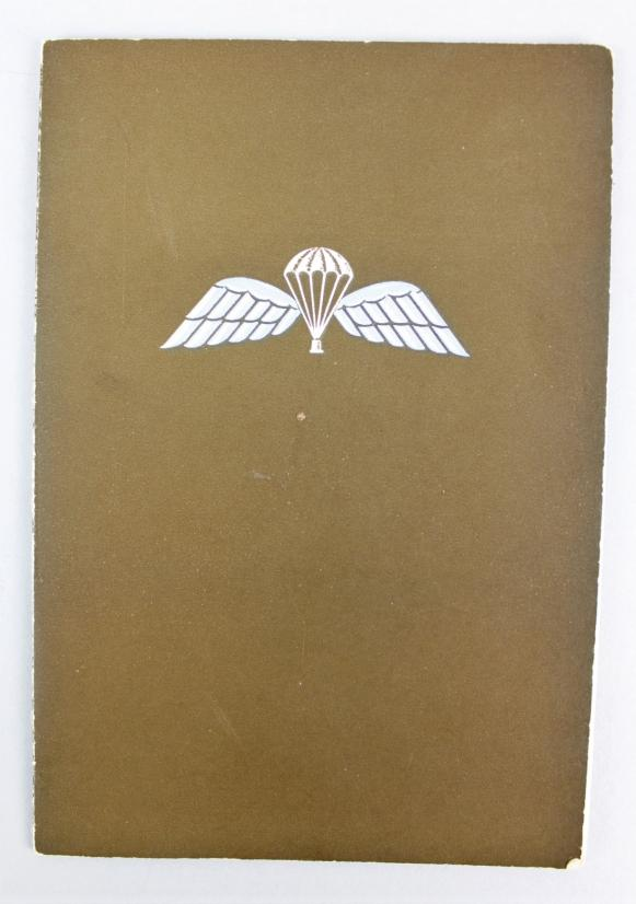 WW2 British Parachute Regiment Officers Greetings Card